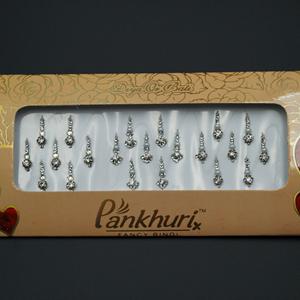Pankhuri - White Pack Diamante Bindi