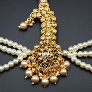 Maha Gold Polki Stone Kalgi - Gold