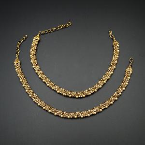 Gamin  - Gold Diamante Payals - Antique Gold