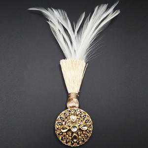 Reene - Gold Kundan Stone Kalgi - Gold