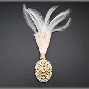 Willa - Gold Kundan Stone Kalgi - Antique Gold