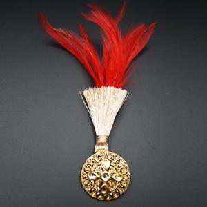 Hadar - Gold Kundan Stone Kalgi - Gold