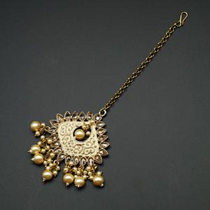 Miri - Gold Polki Stone Tikka - Antique Gold