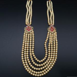 Tuhin Groom Sherwani Haar - Gold