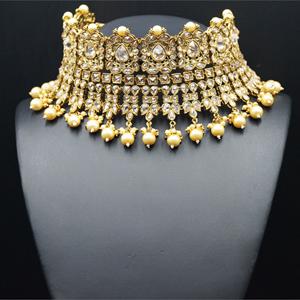 Aiwa - Gold Polki Necklace Set - Antique Gold