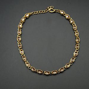 lirati -Gold Polki Stone Payal - Antique Gold