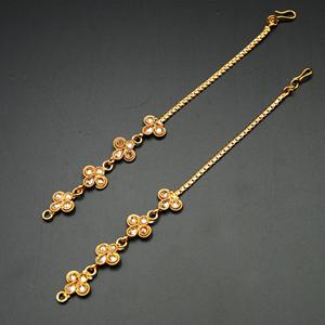 Gold Polki Stone Sahara for Earrings- Gold