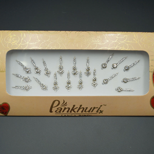 Pankhuri - White Pack Diamante Bindi