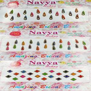 Navya 10 Page Bindi Book - Mix Colour/Design