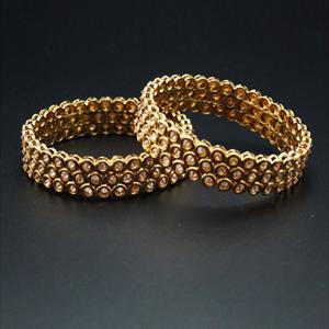Kiripi  Gold Polki Stone Kharas -Antique Gold