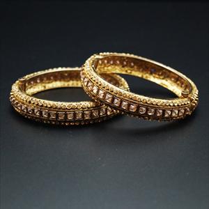 Kuja Gold Polki Stone Kharas -Antique Gold