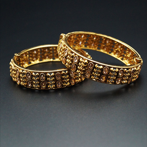 Pival Gold Polki Stone Kharas -Antique Gold
