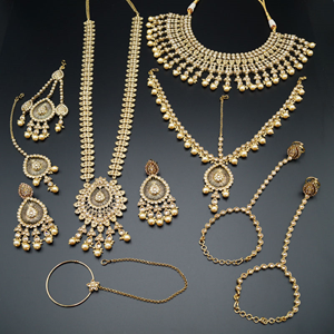 Deepika Gold Polki Wedding Set-AntiqueGold
