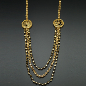 Ojas Gold Kundan and Diamante Rani Haar Set - AntiqueGold