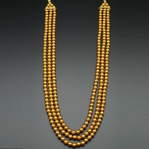 Hiran Groom Sherwani Haar - Gold