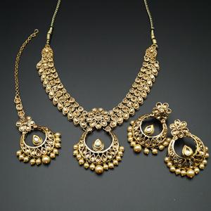Elina Gold  Necklace Set - Gold