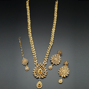 Atmiya Gold Diamante Set-Gold