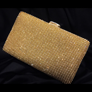 Meni Gold Clutch Bag