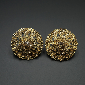 Tejas Gold Diamante Earrings - Gold