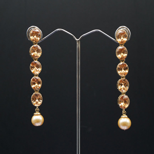 Tari  Gold Polki Stone Earrings - Gold
