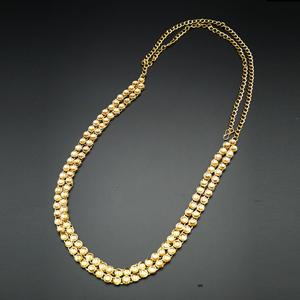 Adya - Gold Kundan Saree Belt - Gold