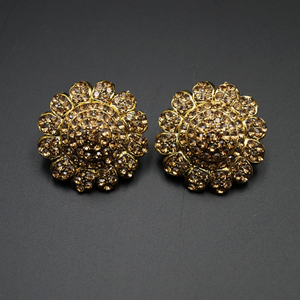 Gold Diamante Earrings - Gold