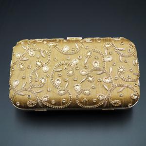 Devak  Dark Gold  Kundan Clutch Bag