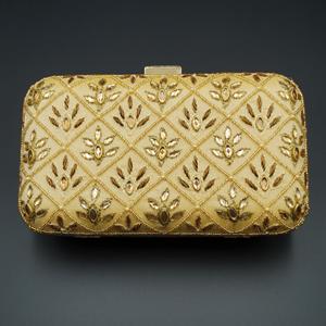 Reia  Gold Kundan Clutch Bag