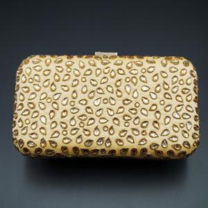 Khushi  Gold Kundan Clutch Bag