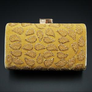 Johi Gold Diamante Clutch Bag