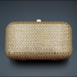 Silpa - Gold Stone Clutch Bag