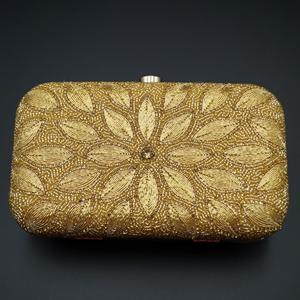 Hirva -Gold Clutch Bag