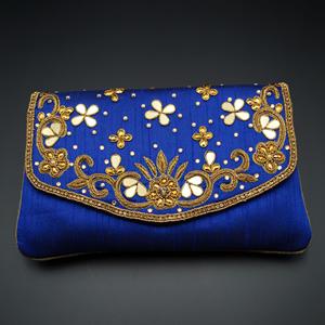 Yaad - Blue Clutch Bag