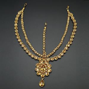 Amruti  Gold Diamante Mathaa Pathi - Gold