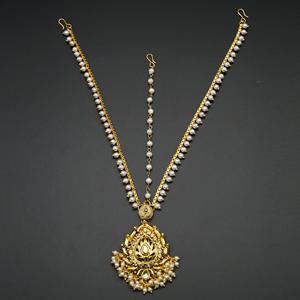 Ubab Gold Diamante Mathaa Pathi - Gold