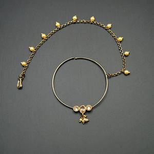Naag- Gold Nath With Chain- AntiqueGold