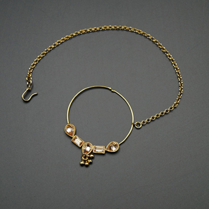 Taib - Gold Nath With Chain- AntiqueGold