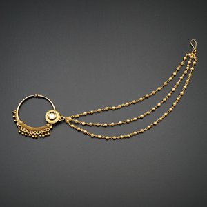 Raab - Gold Nath With Chain- Gold