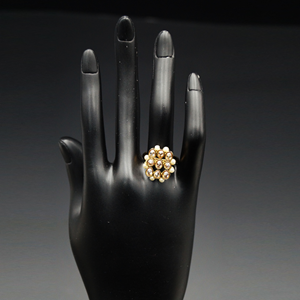 Cyrus  Gold Polki Stone Ring - AntiqueGold