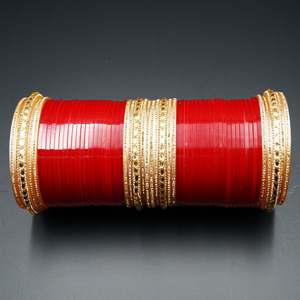 Jayu Bridal Choora - Red