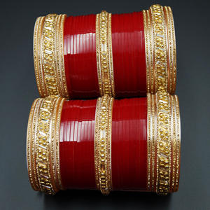 Lavo Bridal Choora Red - Gold