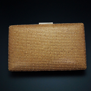 Gajra Gold Stone Clutch Bag