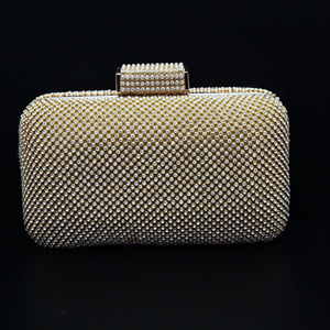 Nakti Gold Clutch Bag