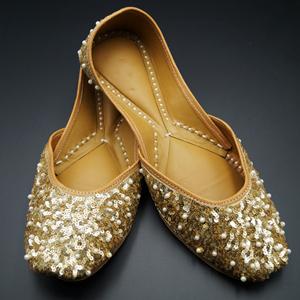 Rada Gold Colour Leather Jutti