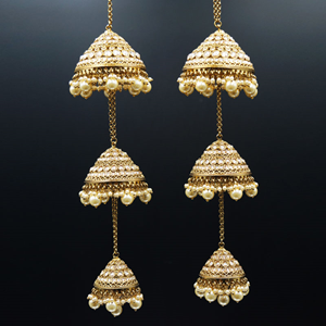 Mana Gold Polki Stone Kaleeray - Antique Gold