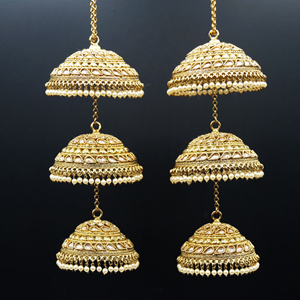 Sou Gold Polki Stone Kaleeray - Antique Gold
