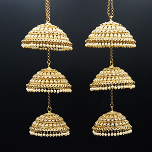 Veju Gold Polki Stone Kaleeray - Antique Gold