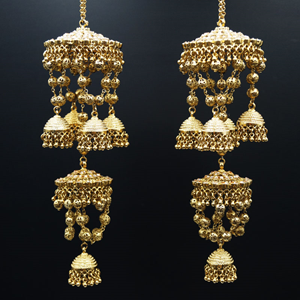 Faria Gold Polki Stone Kaleeray - Antique Gold