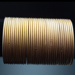 Golden Matt Bangles