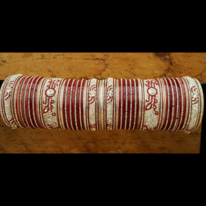 Maroon Wedding Choora - Bangles